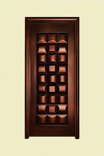 巧克力色雕刻实木烤漆门