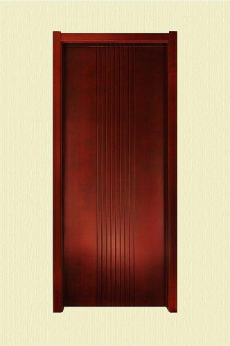 朱红色竖纹实木烤漆门