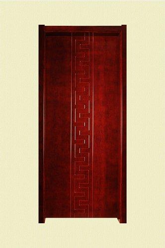 棕红色凹凸纹实木烤漆门