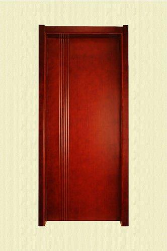 棕红色细竖纹实木烤漆门