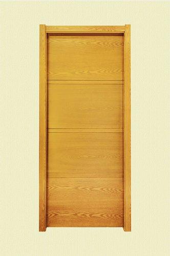 橘黄色四格实木烤漆门