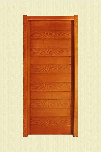 棕黄色横纹实木烤漆门