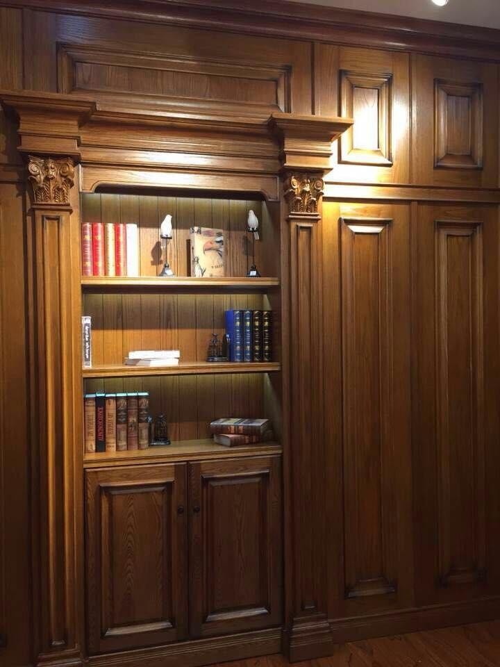 实木书柜高大上